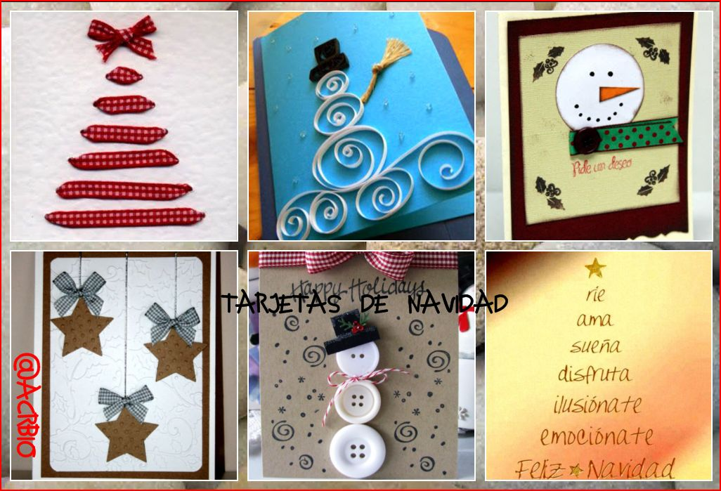 Entretenidas tarjetas de navidad para hacer en clase - Como hacer tarjetas de navidad faciles ...