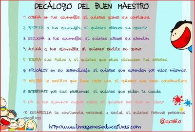 DECÁLOGO DEL BUEN MAESTRO