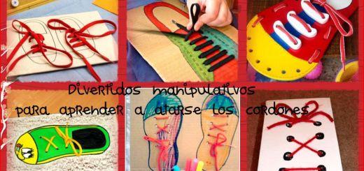 manipulativos para aprender a atarse los cordones Collage