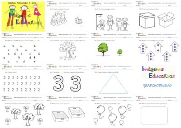 Fichas 3 Años Collage