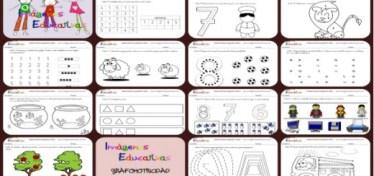 Cuadernillo 40 Actividades Eduación Preescolar 5 Años Collage portada Face