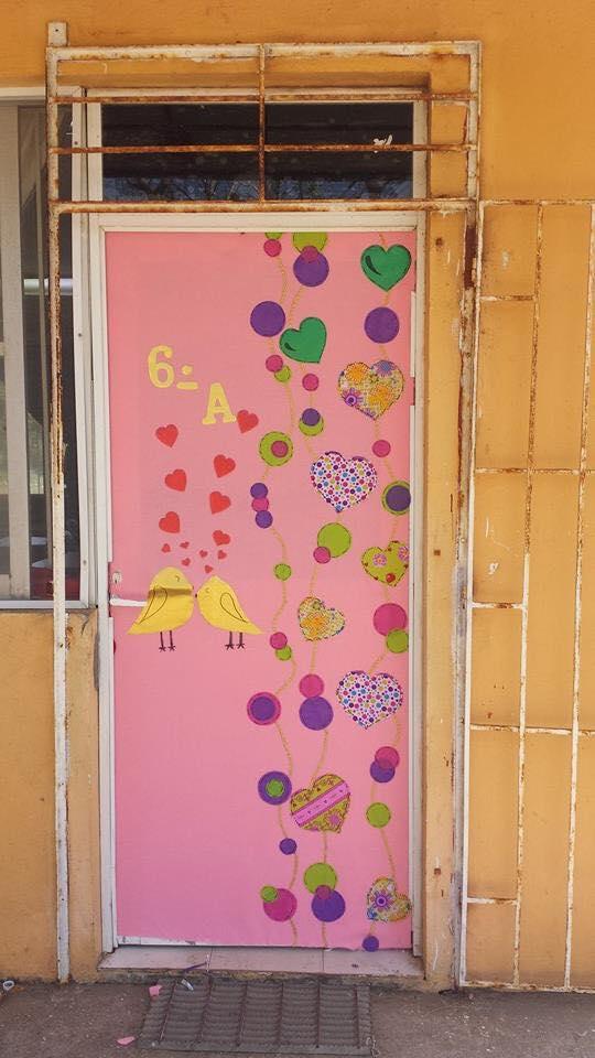 Decoracion dia del amor y dela amistad 25 imagenes for Decoracion puertas dia del nino