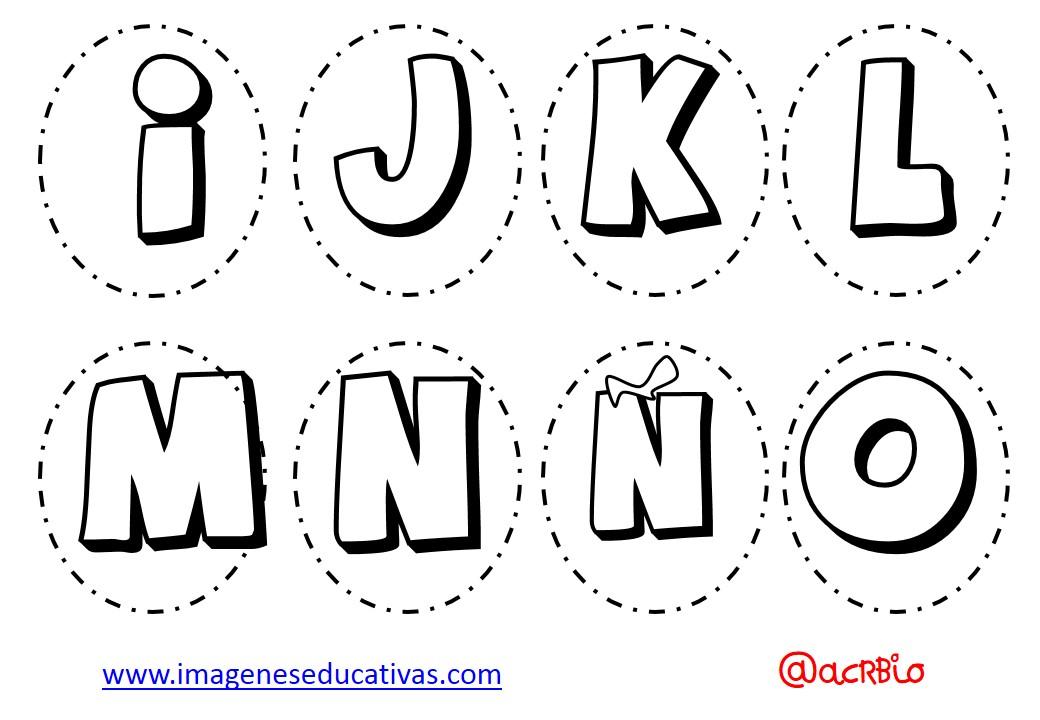 Abecedario para colorear y numeros (2) - Imagenes Educativas