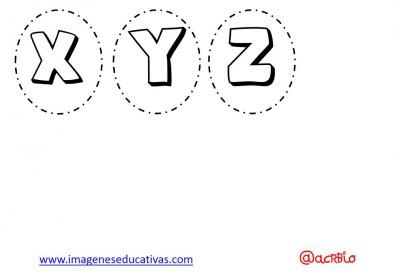 Abecedario para colorear y numeros (4)