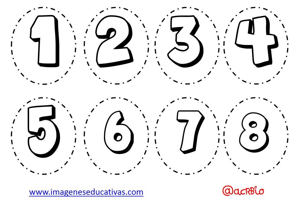 Dibujos Para Colorear Con Numeros Del 1 Al 10: Abecedario Para Colorear Y Numeros (5)