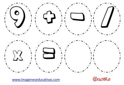 Abecedario para colorear y numeros (6)
