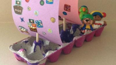 Barco pirata Cartones huevos1