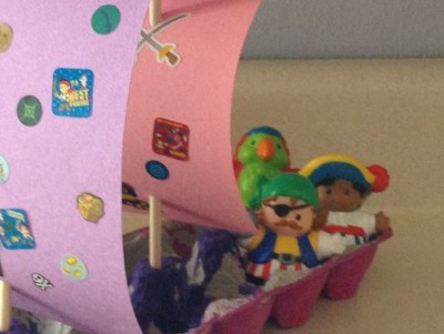 Barco pirata Cartones huevos32