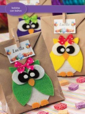Divertidos dulceros para la el d a del ni o con manual con - Trabajos artesanales para hacer en casa ...