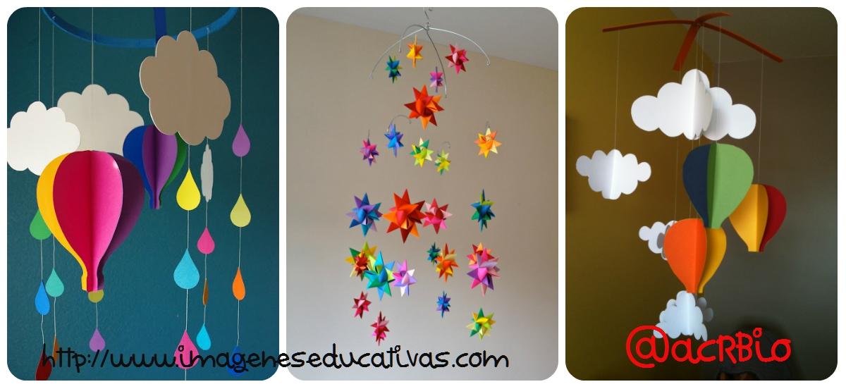 Moviles de papel y cartulina collage imagenes educativas for Decoracion puertas dia del nino