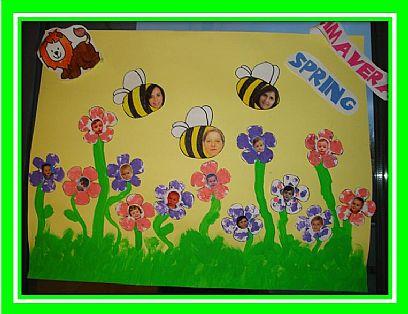 Primavera murales 13 imagenes educativas for Murales infantiles para preescolar