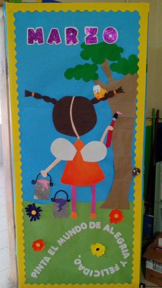 Primavera puertas 3 imagenes educativas for Puertas decoradas con dinosaurios