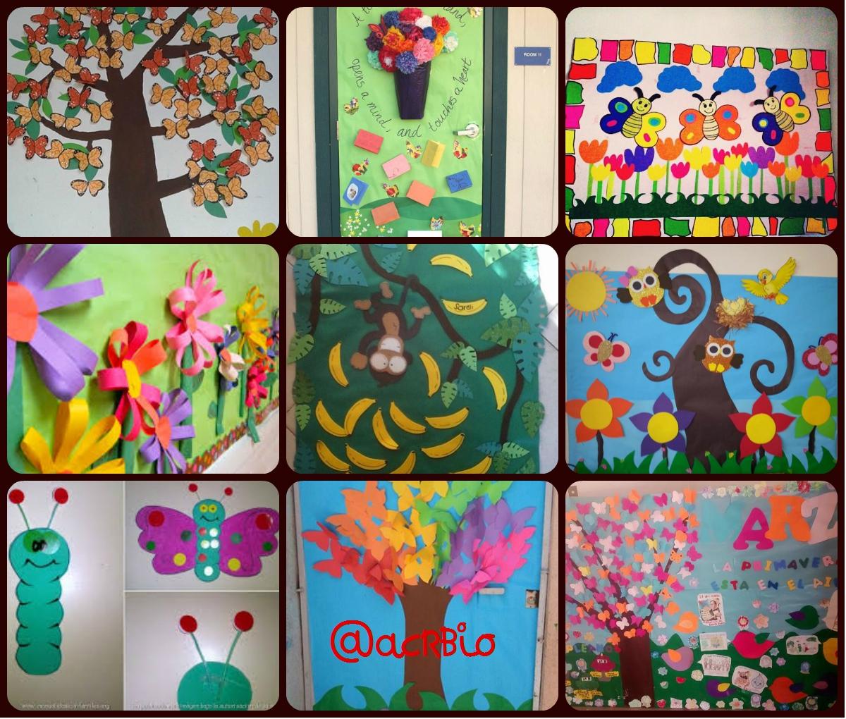 Collage decoraci n primavera portada 2 imagenes educativas for Decoracion de interiores de la escuela