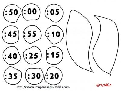reloj - clock plantillas - templete  -  (2)