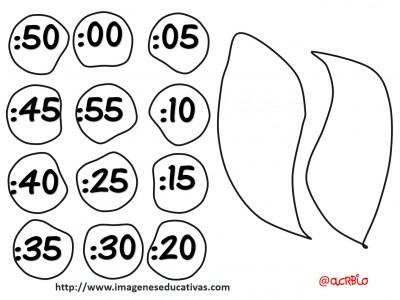 reloj - clock plantillas - templete  -  (4)