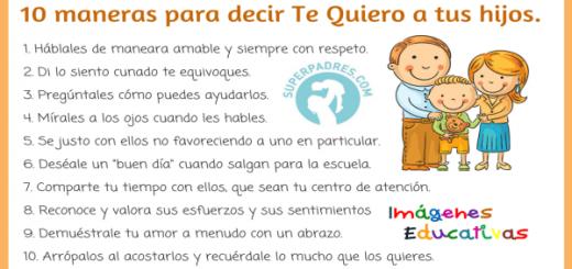 10 maneras para decir Te Quiero a tus hijos Portada