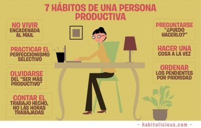 7 Hábitos para mejorar nuestra Productividad