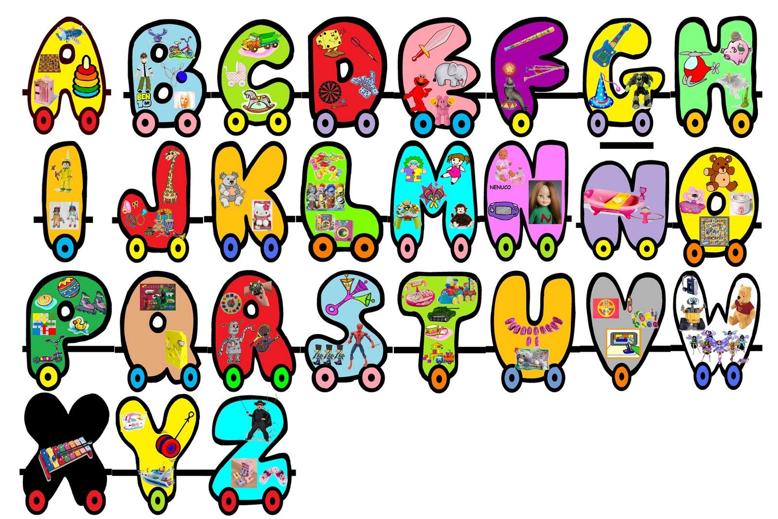 Completa colección de abecedarios para imprimir y colorear