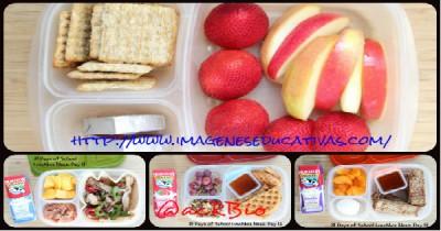 Almuerzos saludables para niñ@s Collage Portada