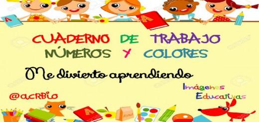 Colección Fichas Trabajamos los Números y los colores Portada