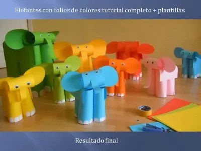 Elefantes con folios de colores tutorial (11)