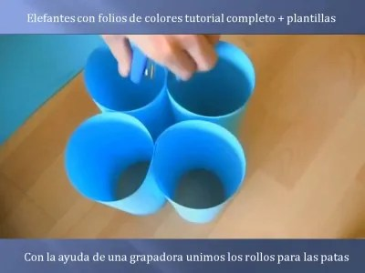 Elefantes con folios de colores tutorial (3)