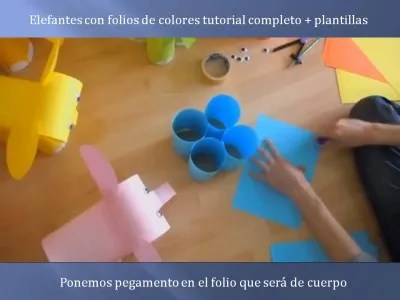 Elefantes con folios de colores tutorial (4)