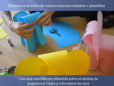 Elefantes con folios de colores tutorial (7)