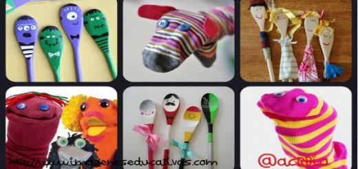 Marionetas Calcetines y cucharas Collage Portada