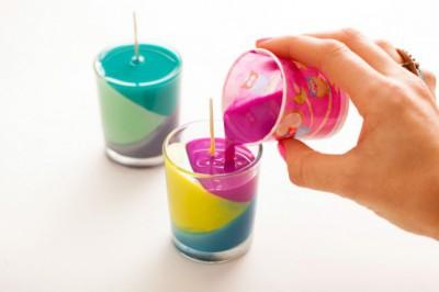Reciclamos nuestras ceras y crayones para convertirlos en velas decorativas.  (11)