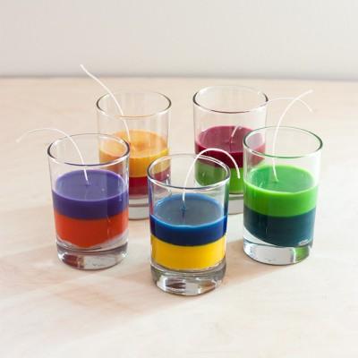 Reciclamos nuestras ceras y crayones para convertirlos en velas decorativas.  (4)