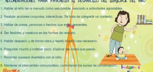 Recomendaciones para favorecer el desarrollo del lenguaje del niño Portada