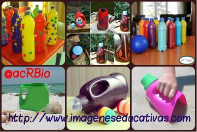 Juguetes reciclados para la playa y el jardín collage 2