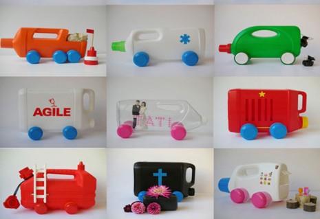 Juguetes reciclados para la playa y el jard n imagenes educativas - Porta detersivi ...