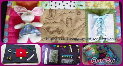 Mantas y cojines DIY para el desarrollo sensorial y motriz Collage