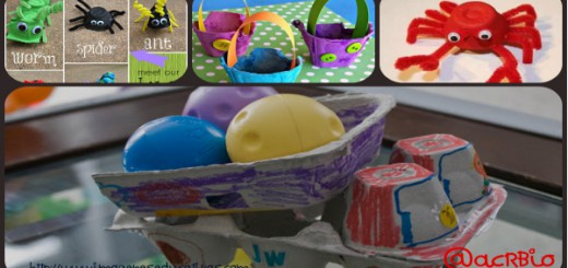 Manualidades con carones de huevos Collage Portada