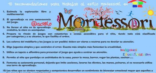 10 recomendaciones para trabajar al estilo Montessori en nuestra casa Portada