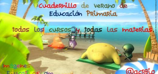 Cuadernillo de verano de Educación Primaria todos los cursos y todas las materias Portada2