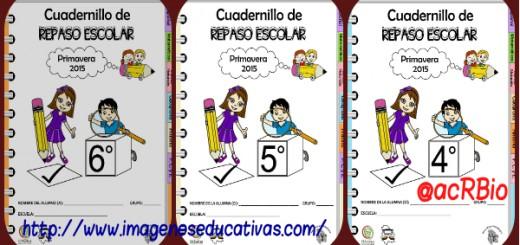 Cuadernillos de Repaso Escolar Cuarto Portada 2