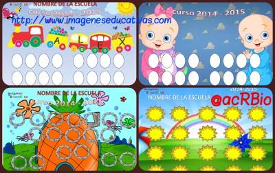 Orlas fin de curso Infantil preescolar y primaria Collage
