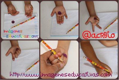 Truco enseñar a coger el lápiz correctamente