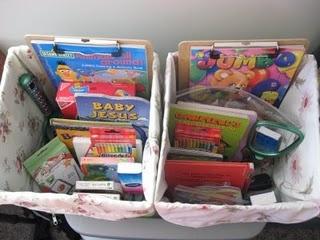 kits de viaje y organizadores de coche DIY Para viajar con niños (7)