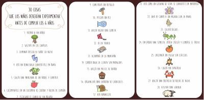 30 cosas que los niños deberían experimentar antes de cumplir los 6 años