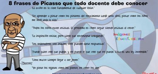 8 frases de Picasso que todo docente debe conocer portada