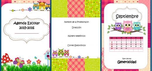 Agenda curso 2015-2016. Motivo Tartanes Portada