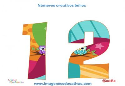 Números creativos Búhos 1 al 20 (12)