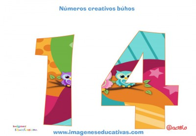 Números creativos Búhos 1 al 20 (14)