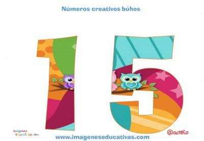 Números creativos Búhos 1 al 20 (15)
