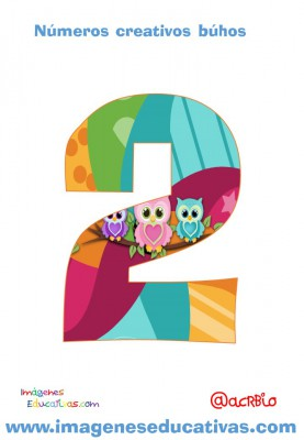 Números creativos Búhos 1 al 20 (2)