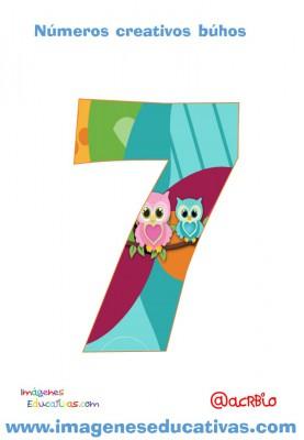 Números creativos Búhos 1 al 20 (7)
